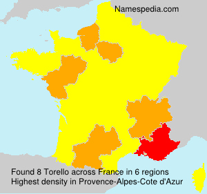 Surname Torello in France