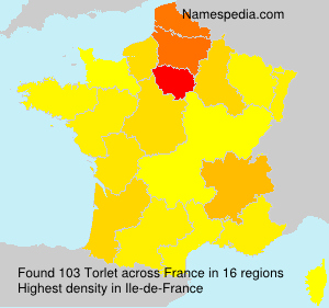 Surname Torlet in France