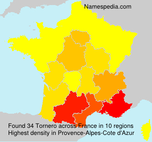 Surname Tornero in France