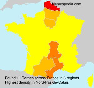 Surname Tornes in France