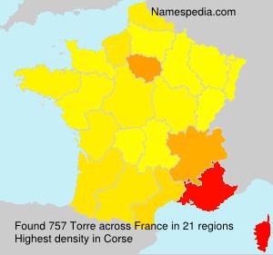 Surname Torre in France