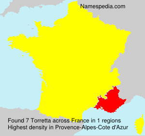 Surname Torretta in France