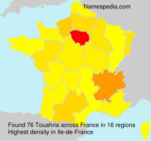 Surname Touahria in France