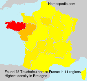 Surname Touchefeu in France