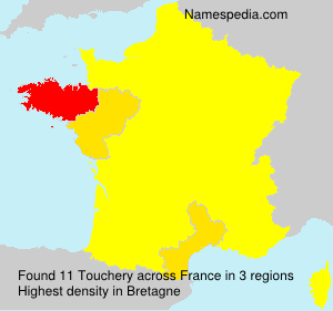 Surname Touchery in France