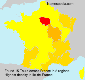 Surname Toula in France