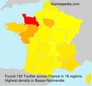 Surname Toullier in France