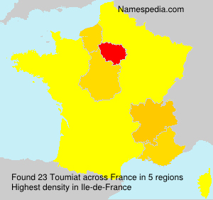 Surname Toumiat in France