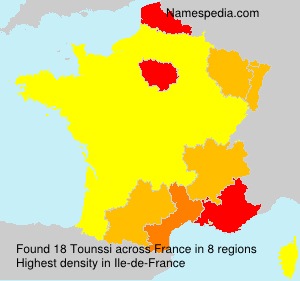 Surname Tounssi in France