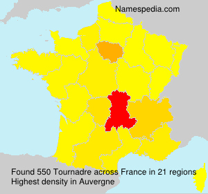 Surname Tournadre in France