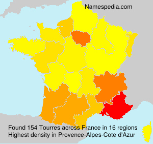 Surname Tourres in France