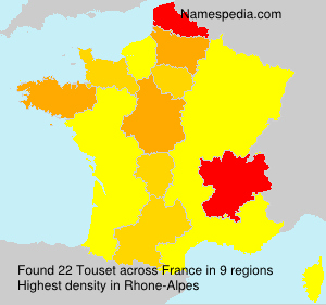 Surname Touset in France