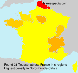 Surname Tousset in France