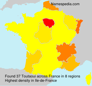 Surname Toutaoui in France