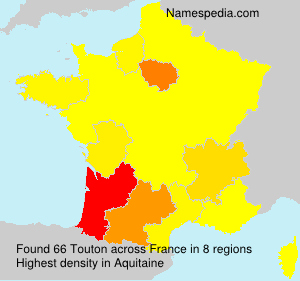 Surname Touton in France