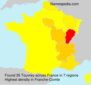 Surname Touvrey in France