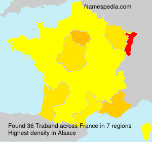 Surname Traband in France