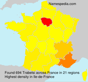 Surname Trabelsi in France