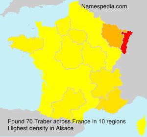 Familiennamen Traber - France