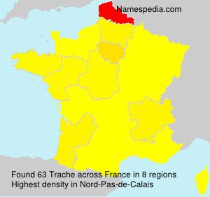 Familiennamen Trache - France