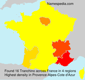 Surname Tranchino in France