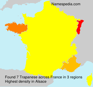 Surname Trapanese in France
