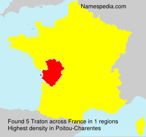 Surname Traton in France