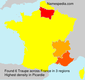 Surname Traupe in France
