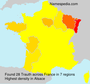Surname Trauth in France