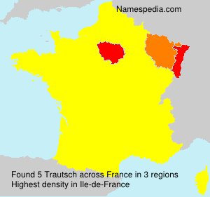 Surname Trautsch in France