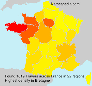 Surname Travers in France