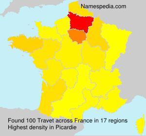 Surname Travet in France