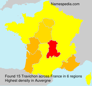 Surname Travichon in France