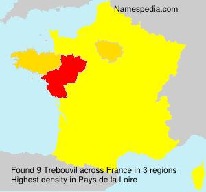 Surname Trebouvil in France