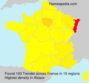Surname Trendel in France