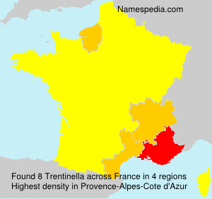 Surname Trentinella in France