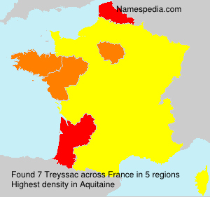 Surname Treyssac in France