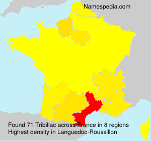 Surname Tribillac in France