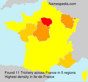 Surname Trichery in France