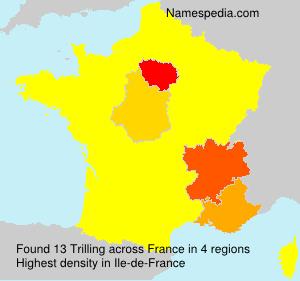 Familiennamen Trilling - France