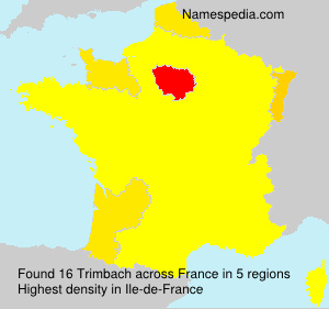Surname Trimbach in France