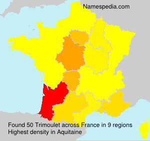 Surname Trimoulet in France