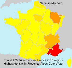 Surname Tripodi in France