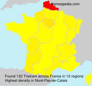 Familiennamen Tristram - France