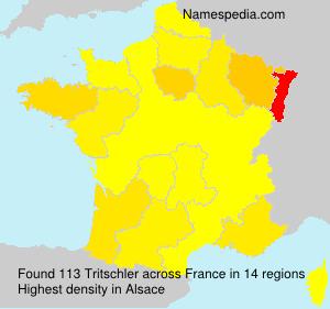 Familiennamen Tritschler - France