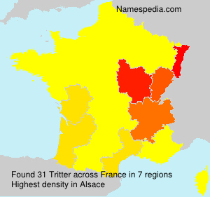 Surname Tritter in France