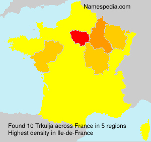Surname Trkulja in France