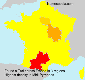 Surname Troi in France