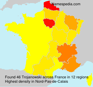 Surname Trojanowski in France