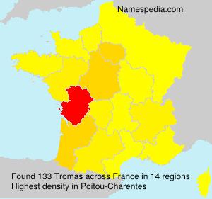 Familiennamen Tromas - France